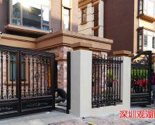 全国案例|深圳观湖园F58铝艺庭院门