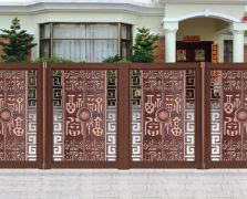 悬浮折叠门精雕 8009款